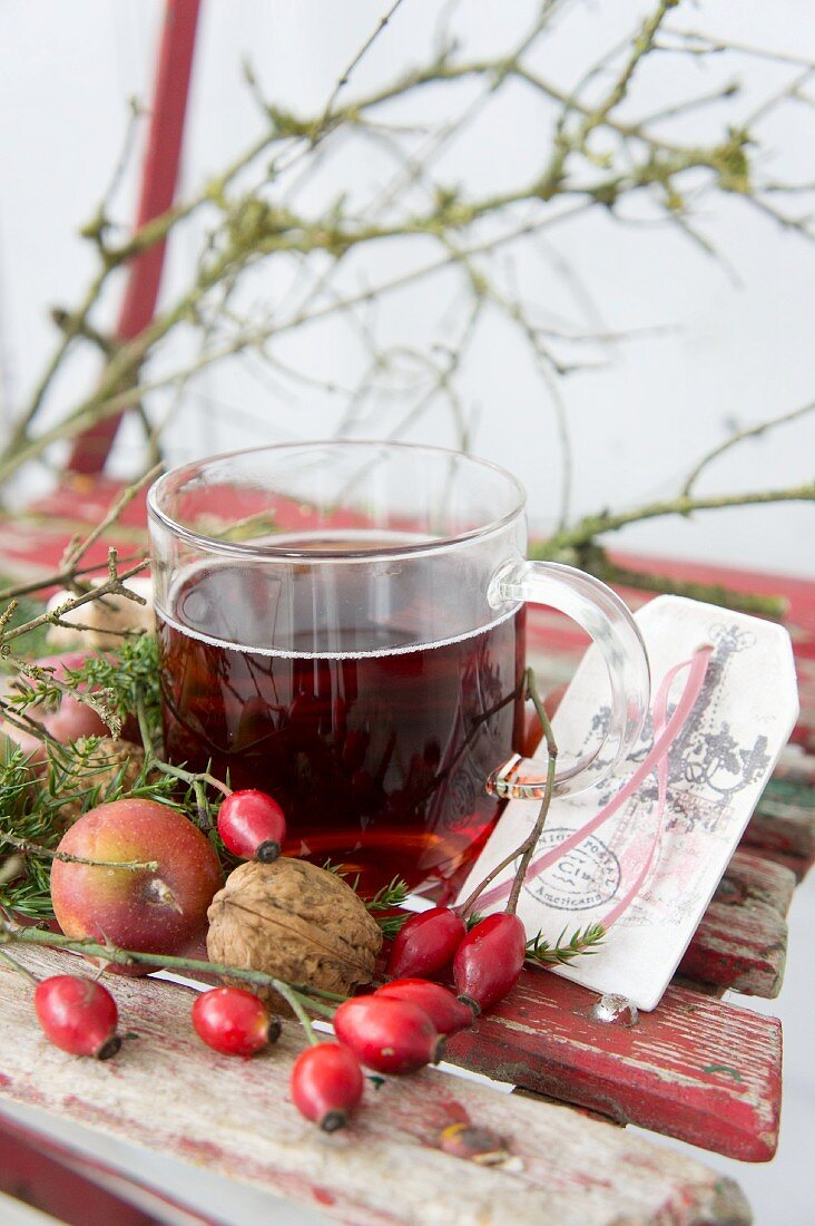 Mulled wine as a Christmas drink