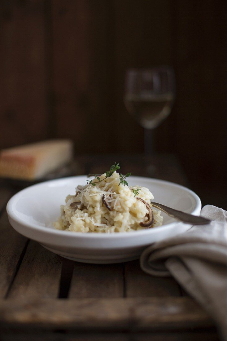 Porcini mushroom risotto with Parmesan