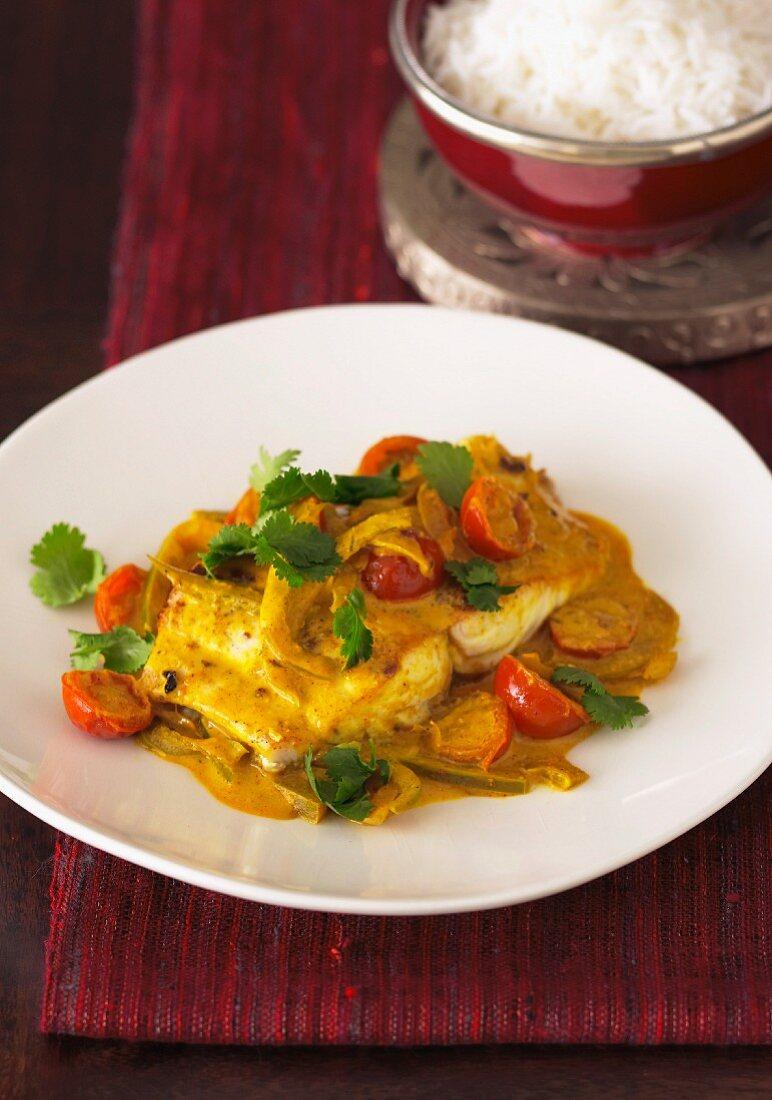 Indian Fish & Capsicum Curry