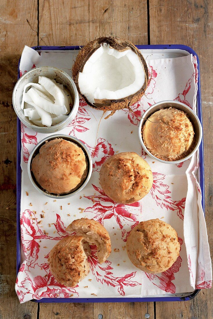 Johnnycakes (a cross between a dense bread and a cake with coconut from the Bahamas)