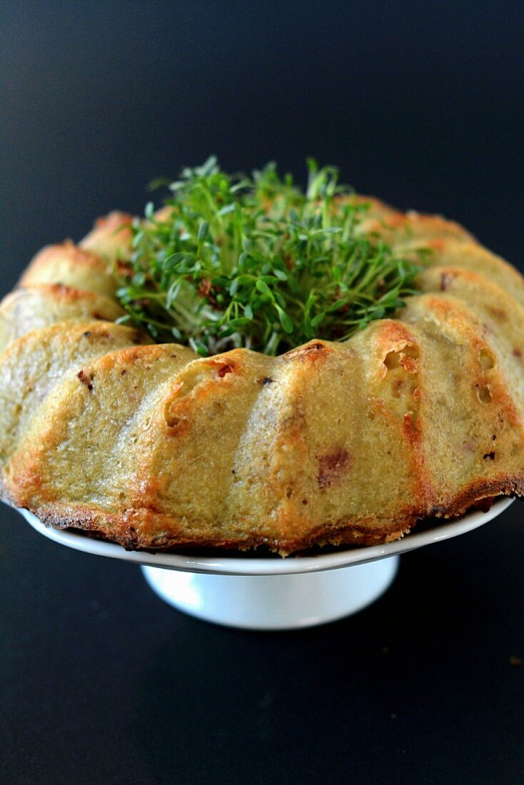 Potato cake with cress