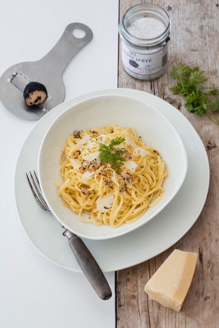 Truffle pasta with Parmesan cheese