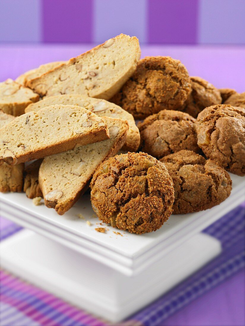Biscotti and ginger biscuits