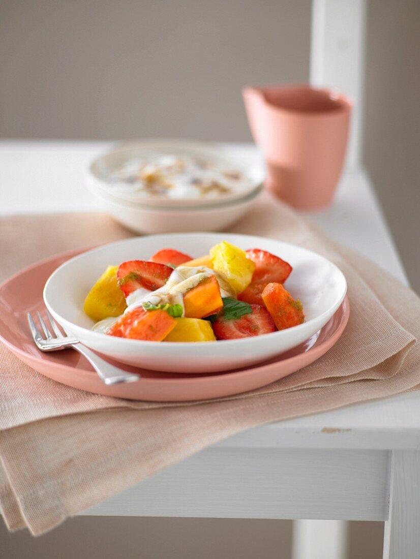 Lime, Vanilla & Star Anise fruit salad