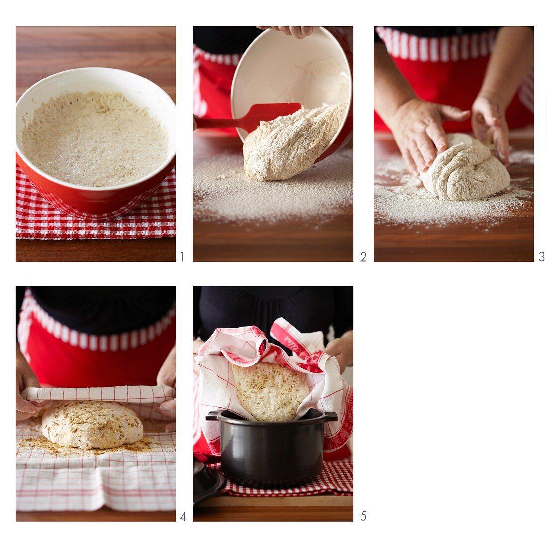 Baking No-Knead Bread