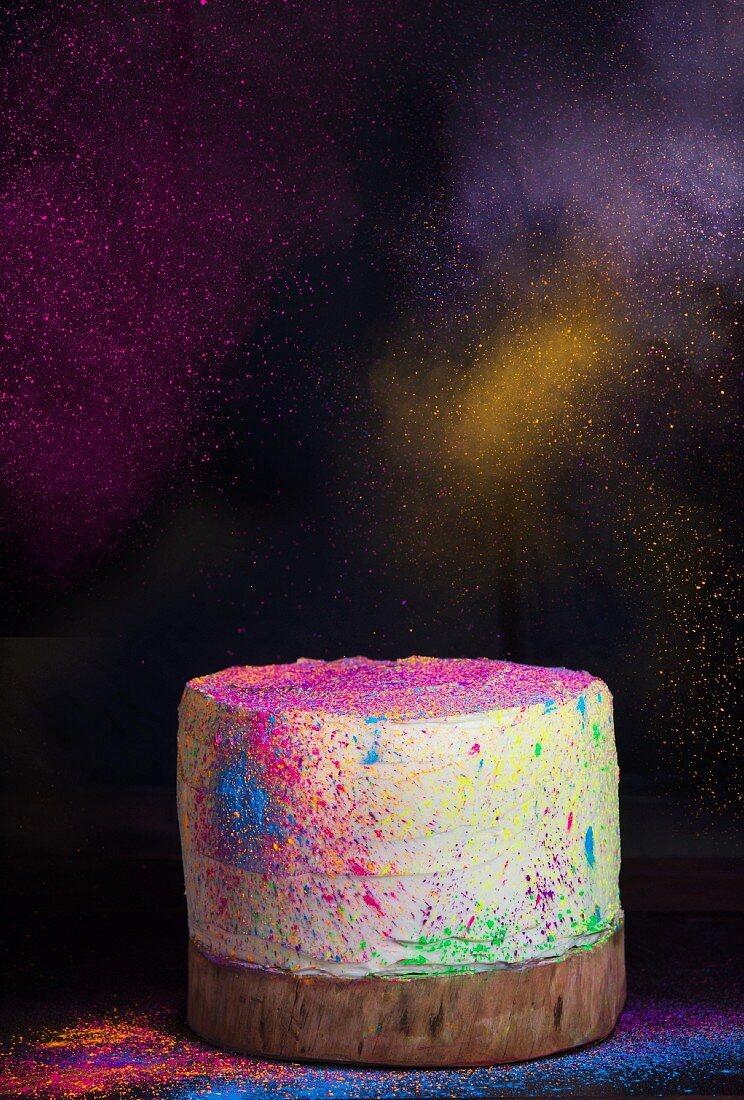 A disco party cake