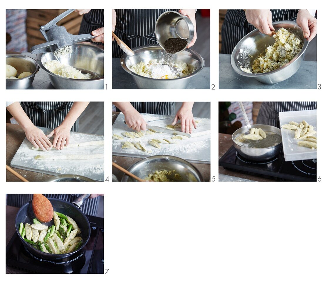 Chia-Gnocchi zubereiten