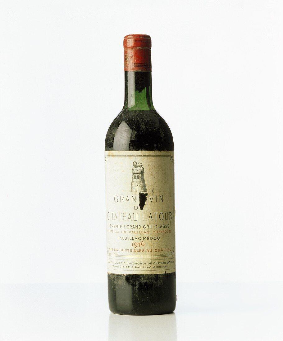 Luxury article: a bottle of 1956 Chateau Latour