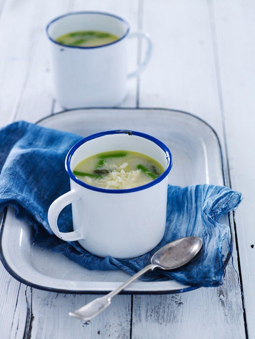 Asparagus & Rice broth