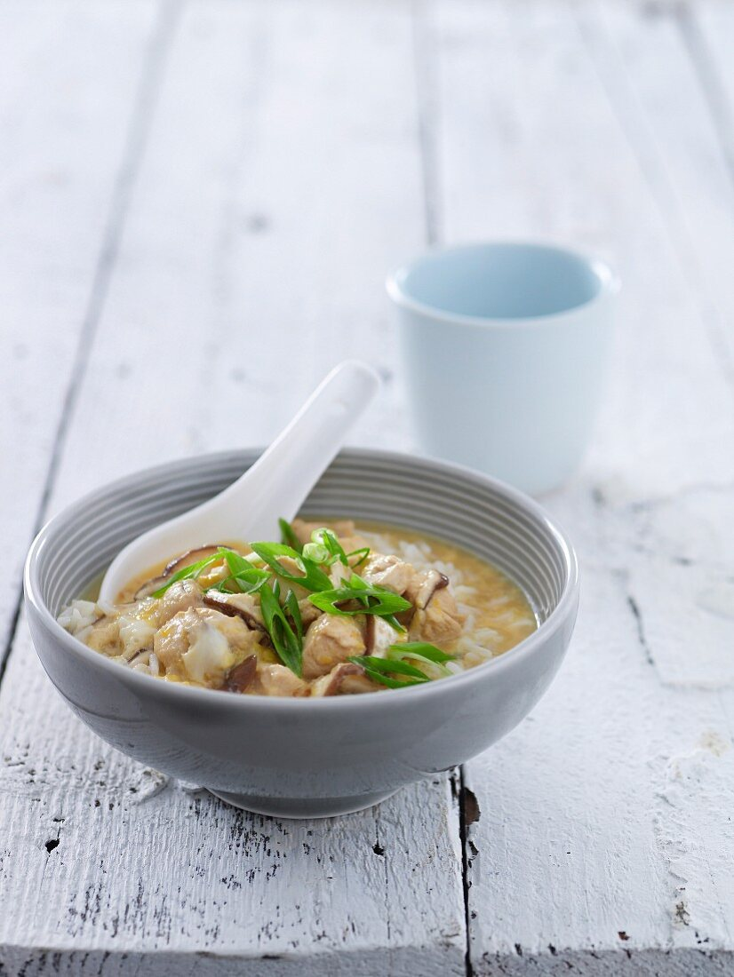 Japanese Chicken and Mushroom with Rice