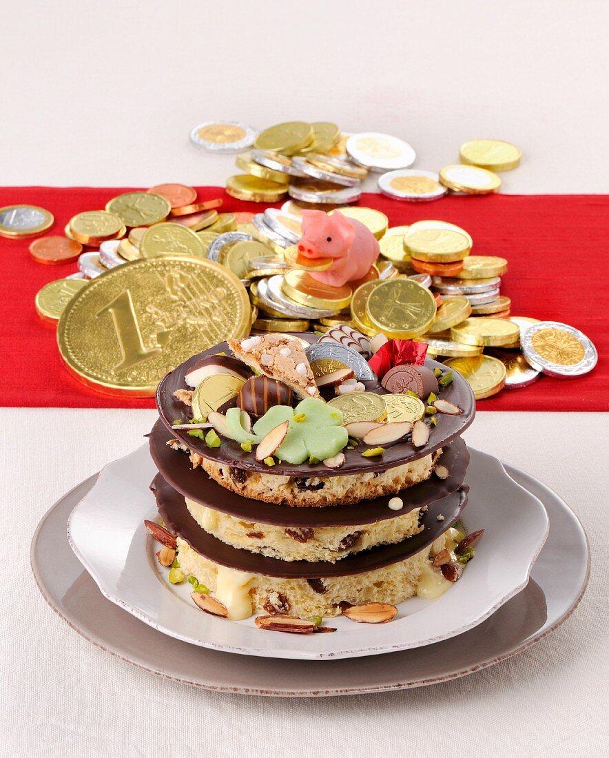 Millefoglie al Panettone (yeast cake mille feuille, Italy)