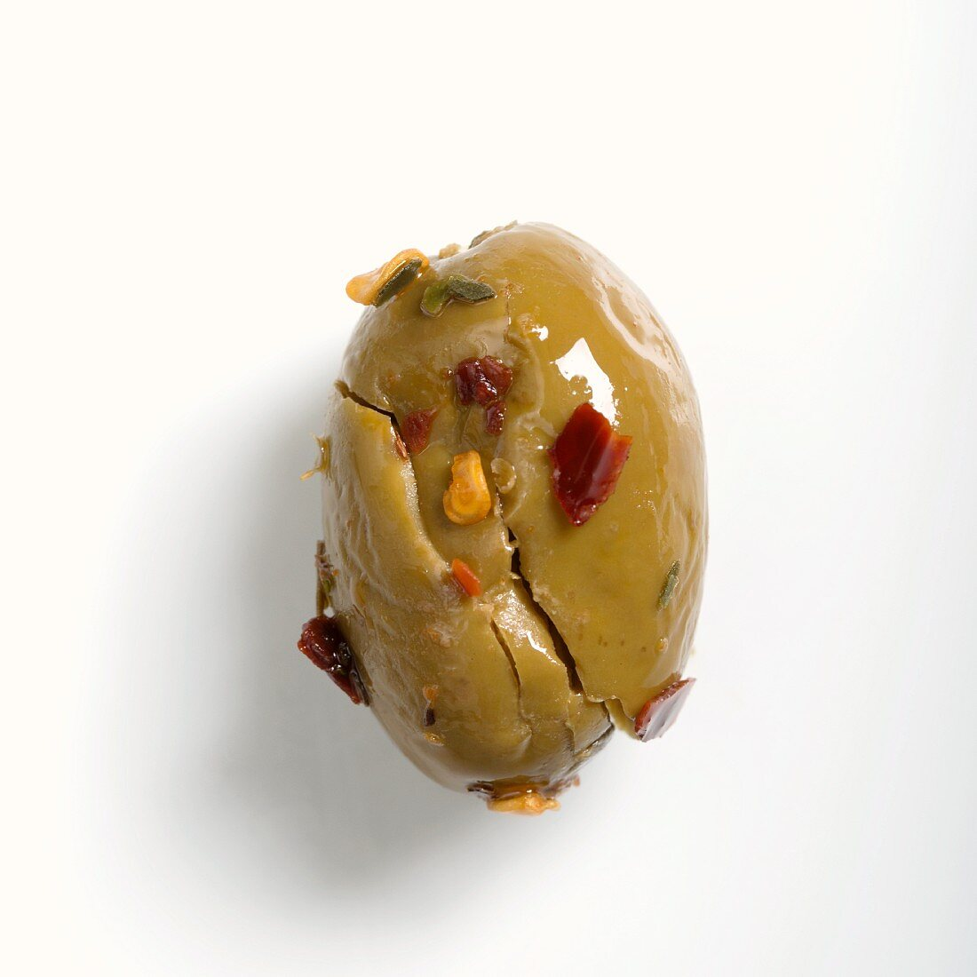 Oliva schiacciata (crushed, pitted and preserved olives, Italy)