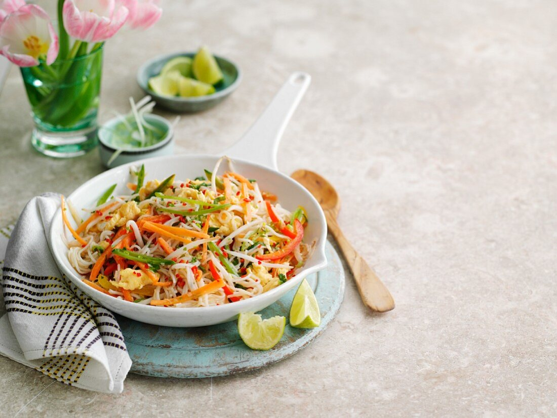 Pad Thai with vegetables (Thailand)