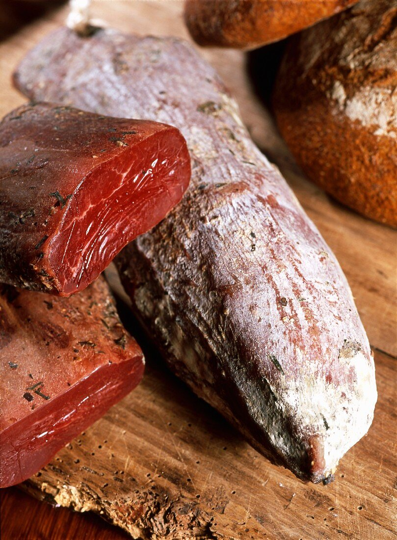 Mocetta (yeah dried ham from the Aosta Valley, Italy)