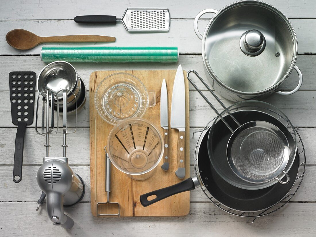 Kitchen utensils and tools for making dessert
