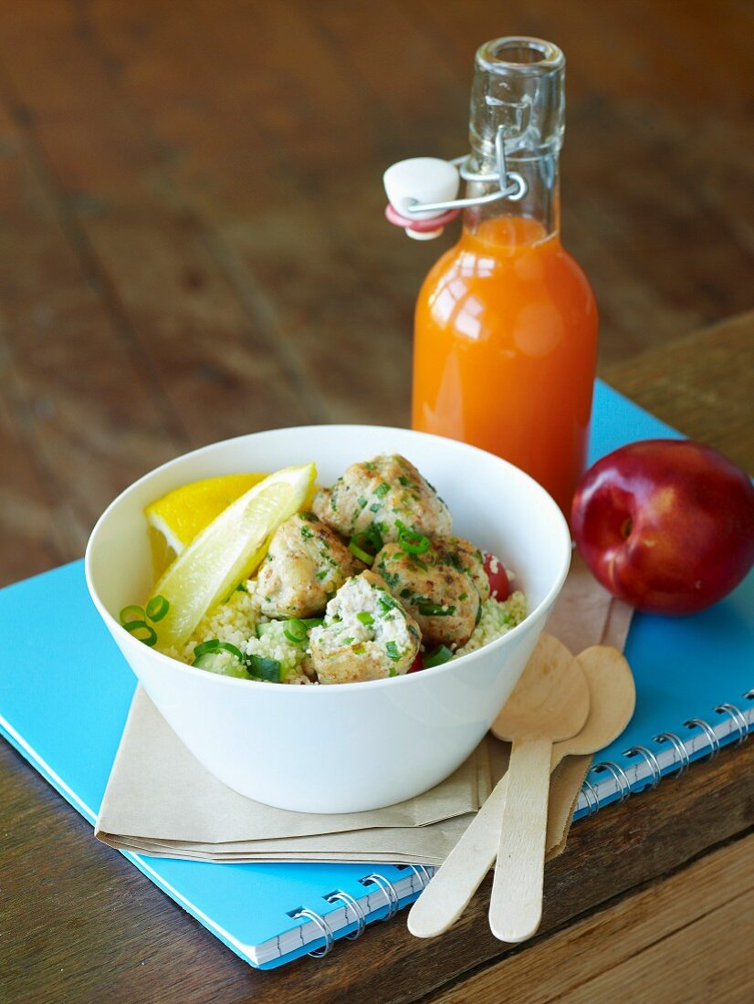 Lunch Box Special - Chicken Balls with Couscous Salad