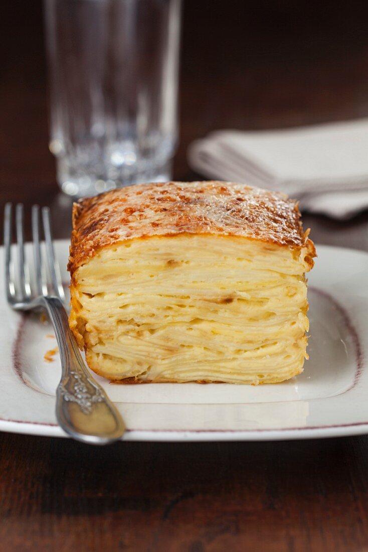 Potato cake with cheese