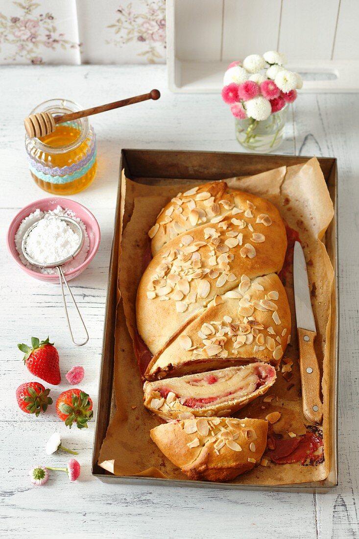 Strawberry and almond bread