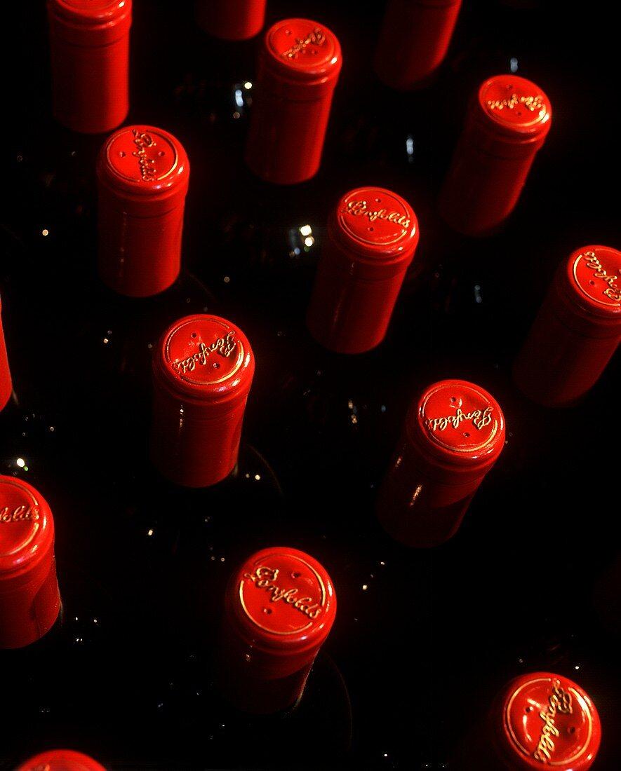 Outer seals on Penfold's bottles, Australia