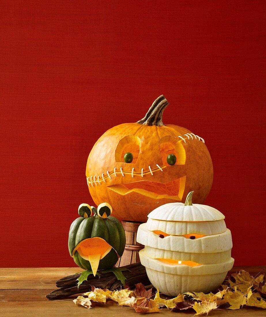 Pumpkin monsters for Halloween