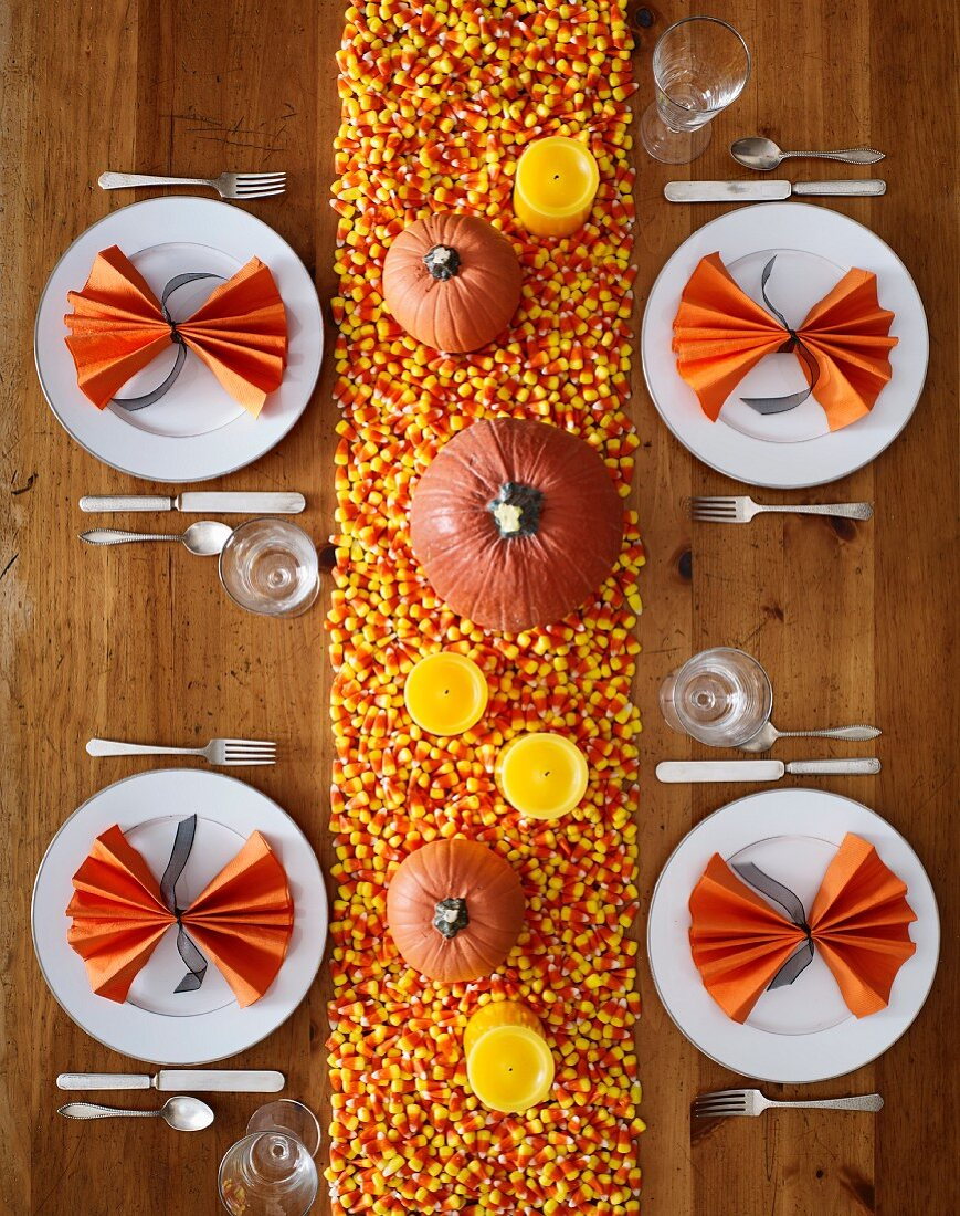 Halloween dining table