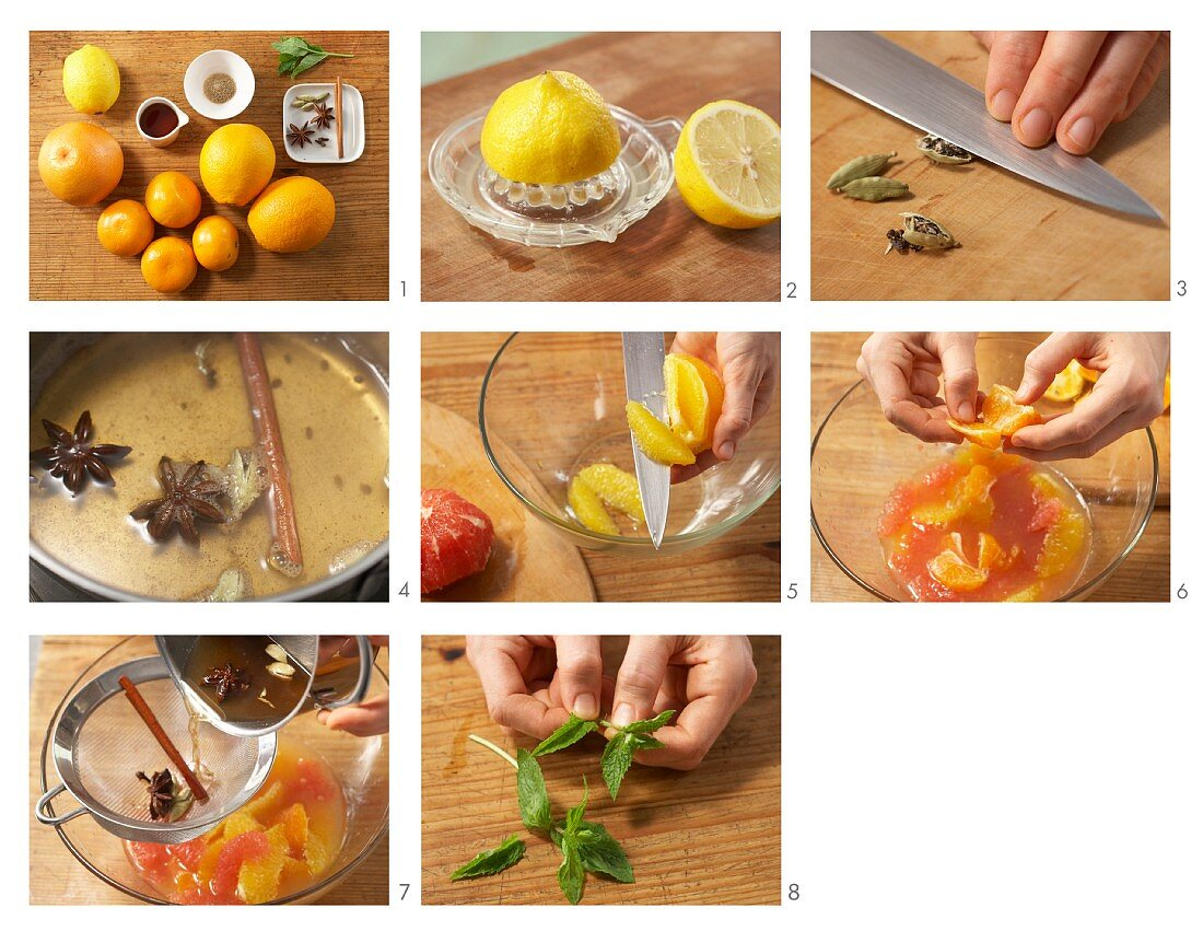 How to prepare citrus fruit dessert