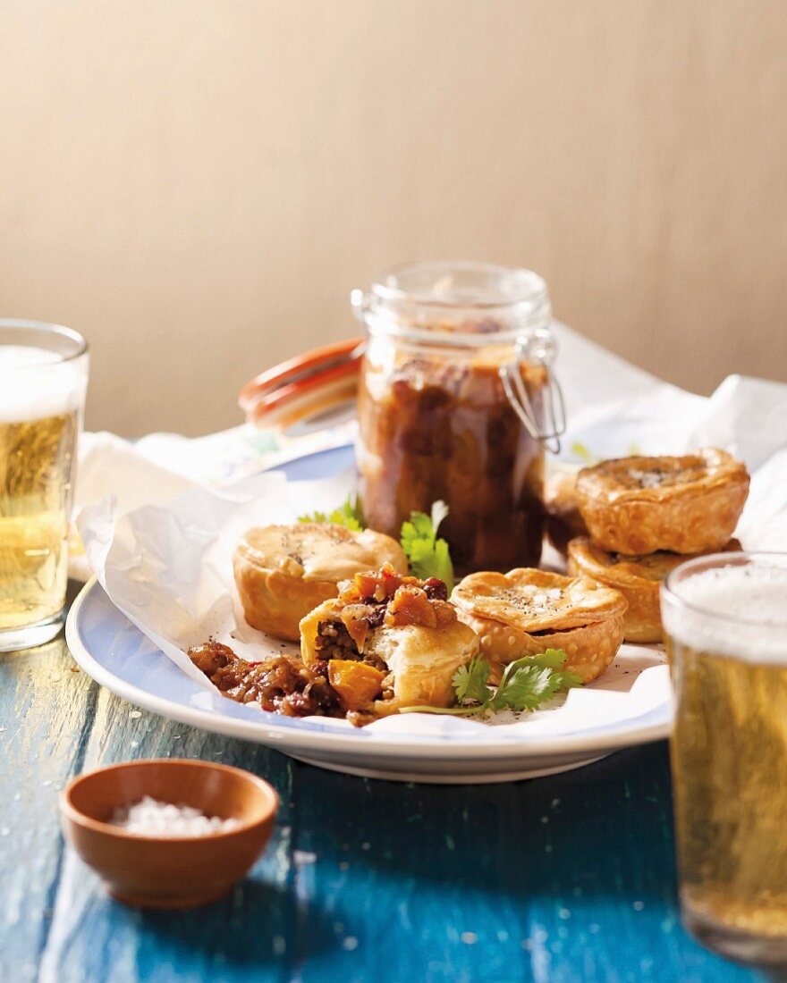 Small fish pies with Sharon fruit chutney