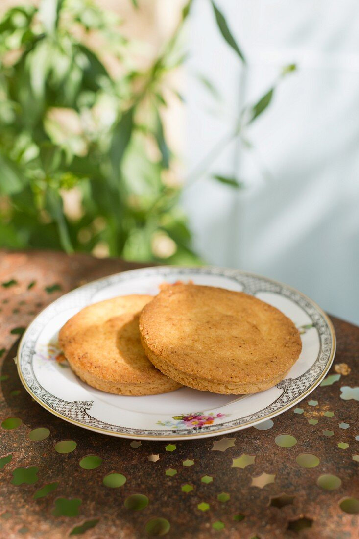 Galettes bretonnes (butter biscuits made with salted butter, France)