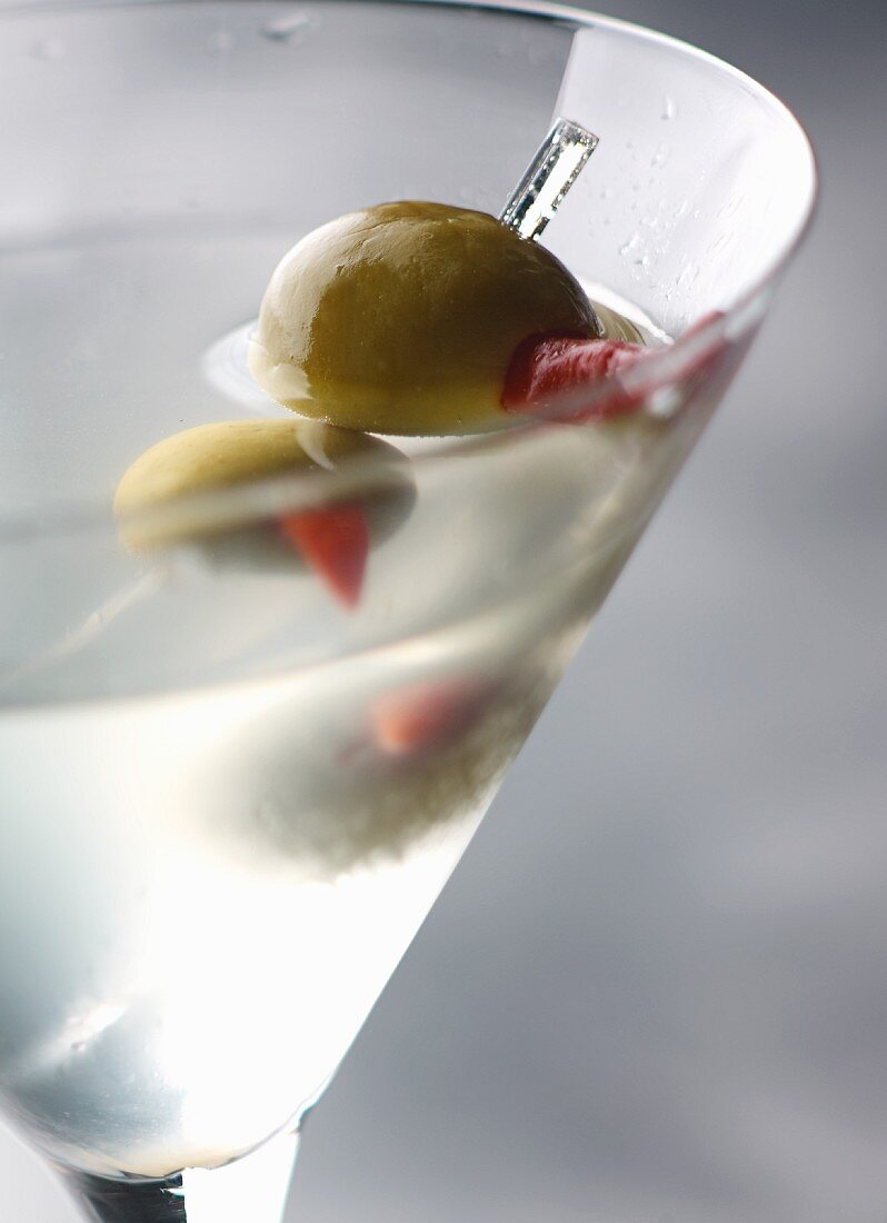 A Dirty Martini cocktail (detail)