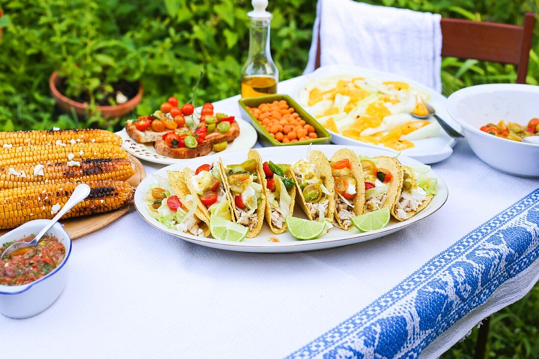 A Mexican party buffet