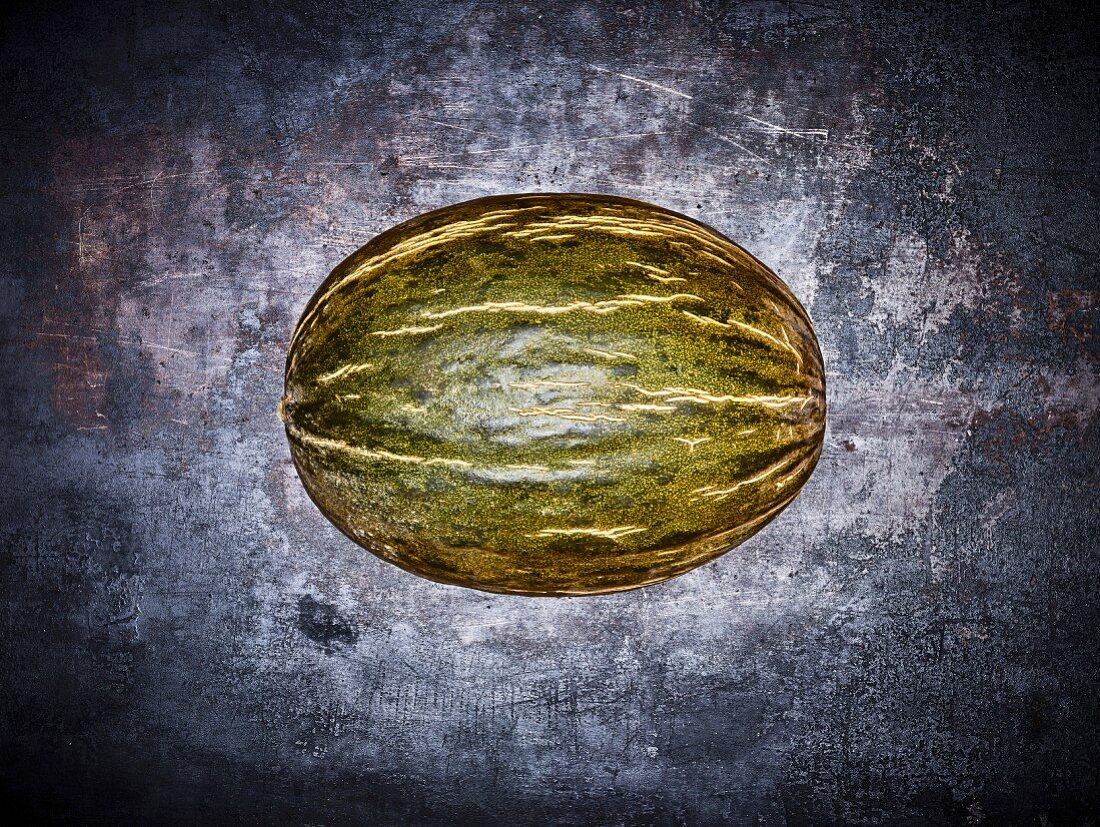 A Santa Claus melon (piel de sapo)