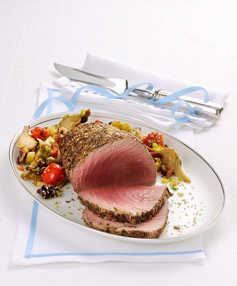 Roastbeef fi tonno (Italian roast tuna)