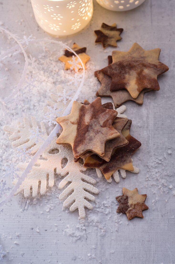 Marmorsterne zu Weihnachten