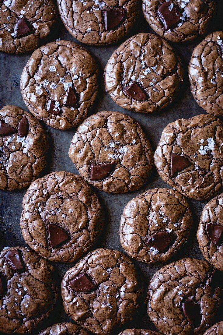 salted double chocolate buckwheat cookies (gluten-free)