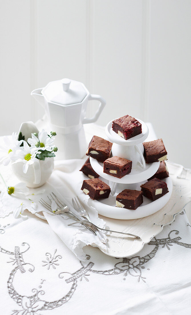 Double Chocolate and Raspberry Brownies