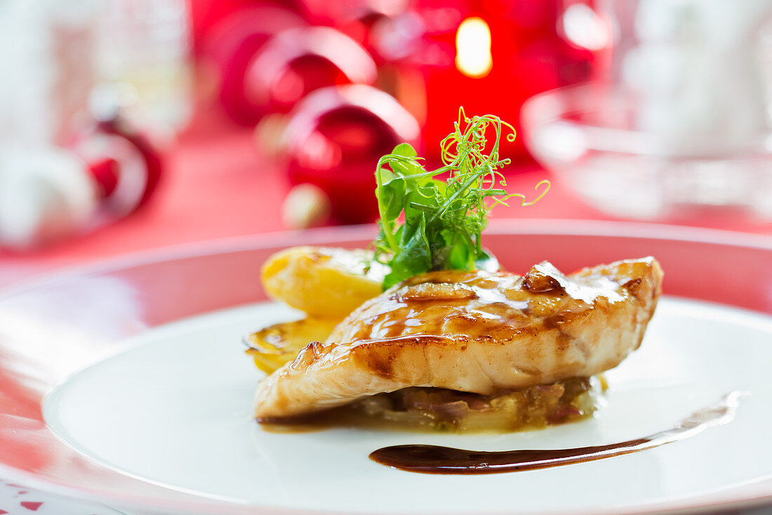 Turbot with roasted chicory (Christmas)
