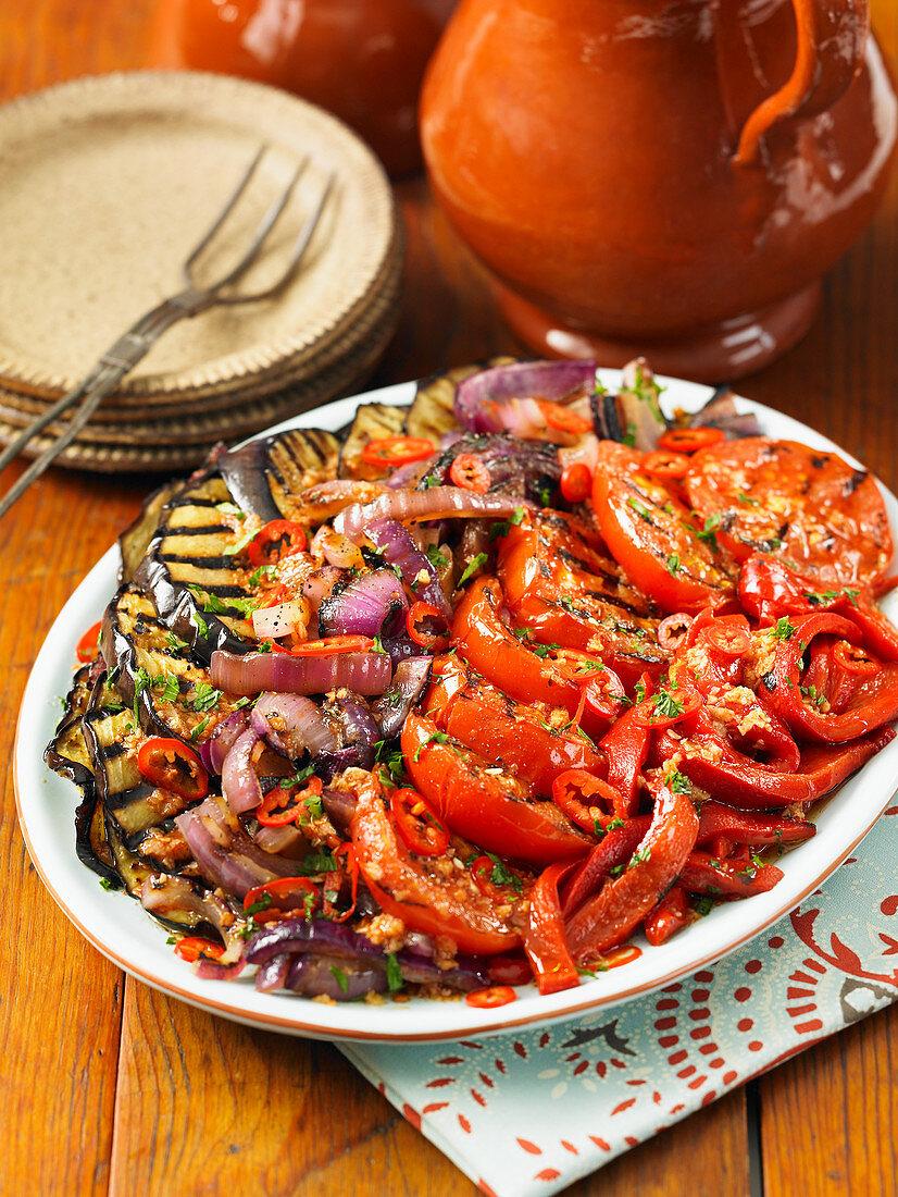 Grilled vegetable platter (Catalonia)