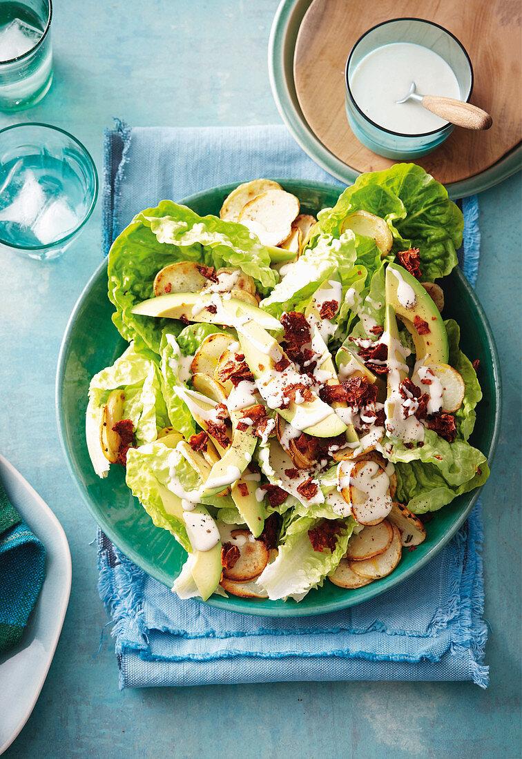 Vegan and gluten-free Caesar Salad