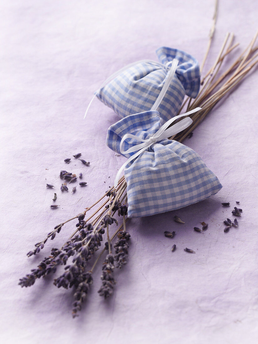 Lavender sacks as a moth deterrent