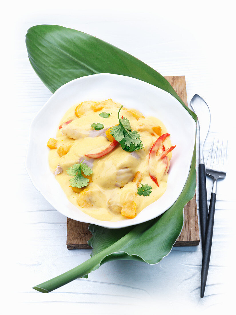 Fish curry with pineapple