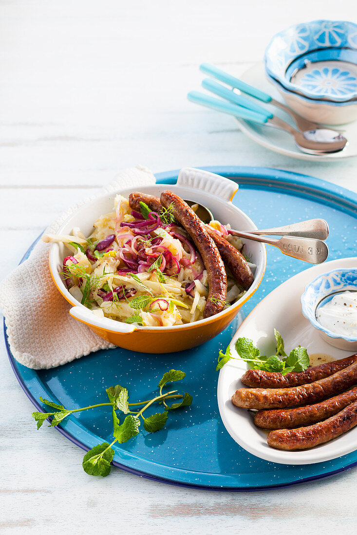 Fennel Stamppot with lamb sausage
