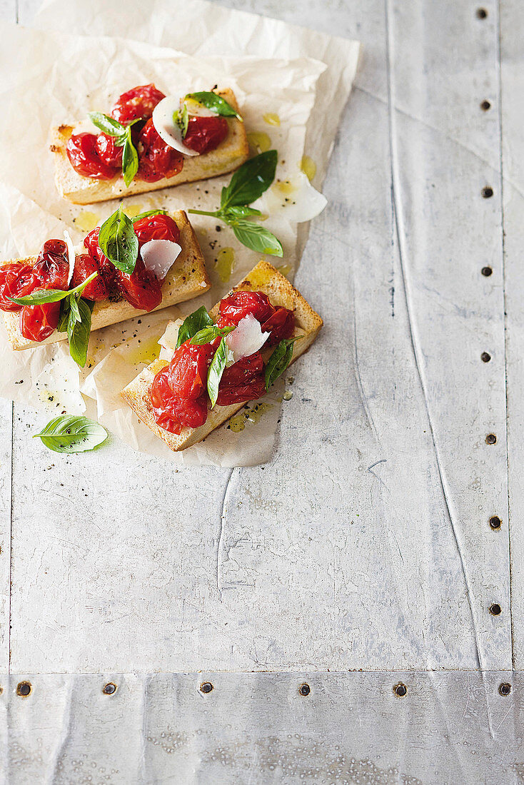 Ciabatta with roasted tomatoes