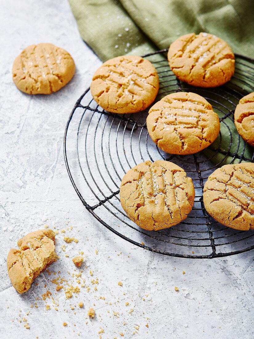 Peanut Butter and Seasalt Cookies