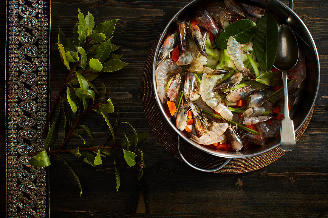 Meeresfrüchtecurry, ungekocht