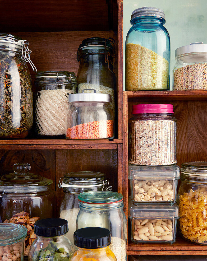 A view into a store cupboard