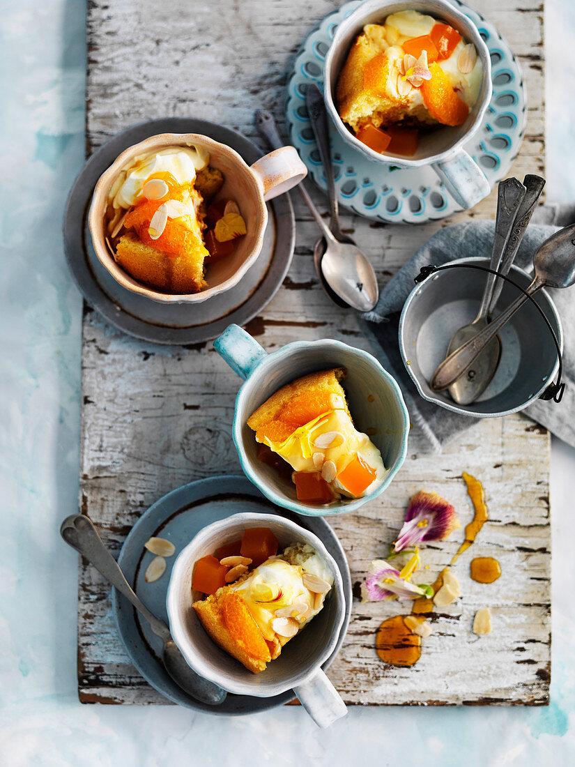 Orange Blossum Jelly Trifle Cake