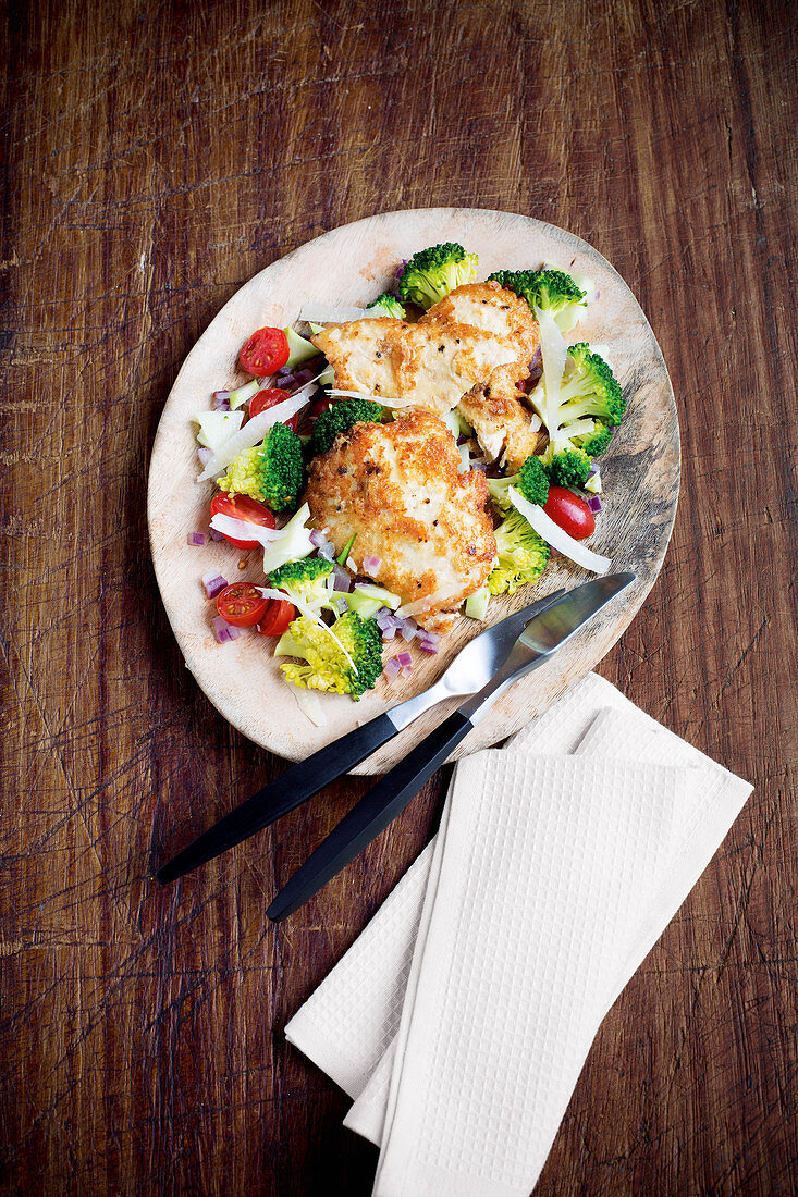 Putenschnitzel mit Brokkoli-Gemüse
