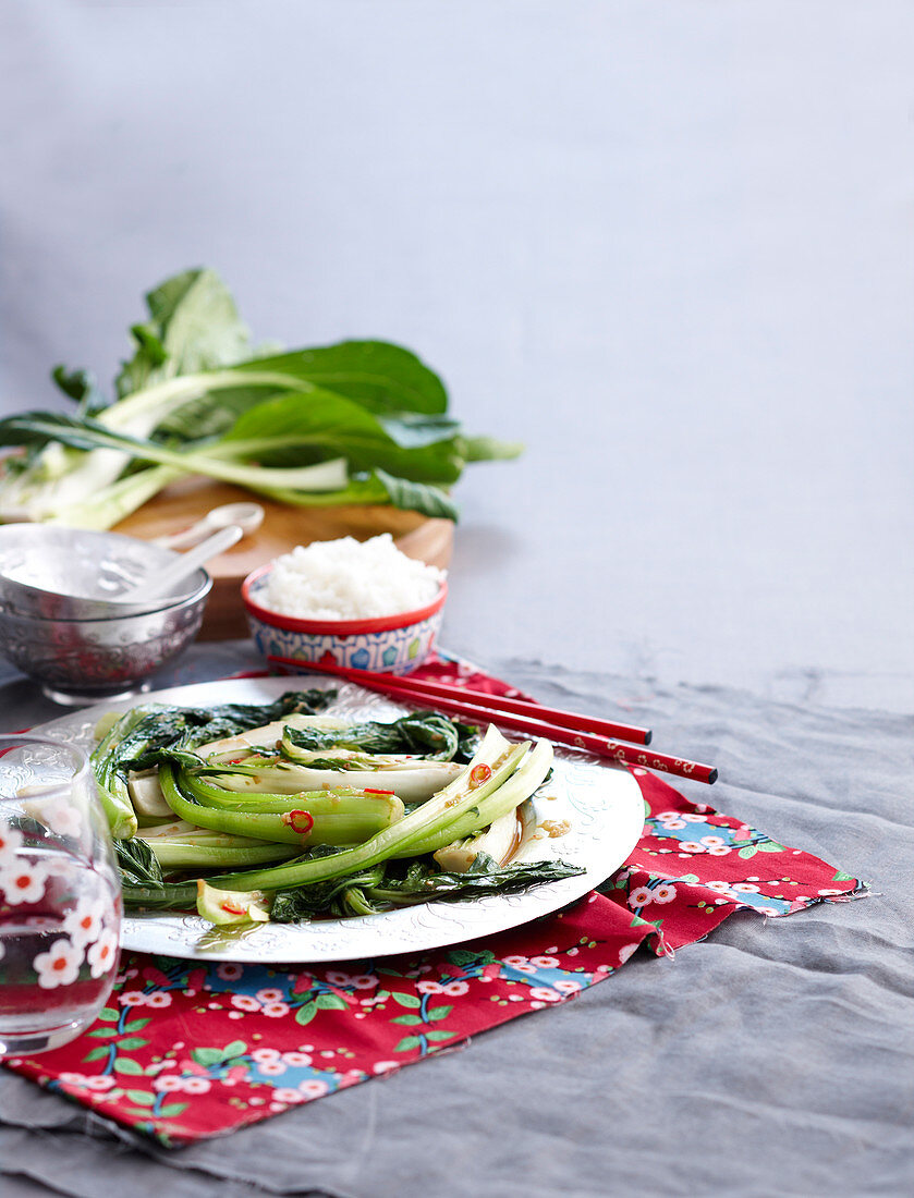 Mixed Asian greens Stir fry with oyster sause