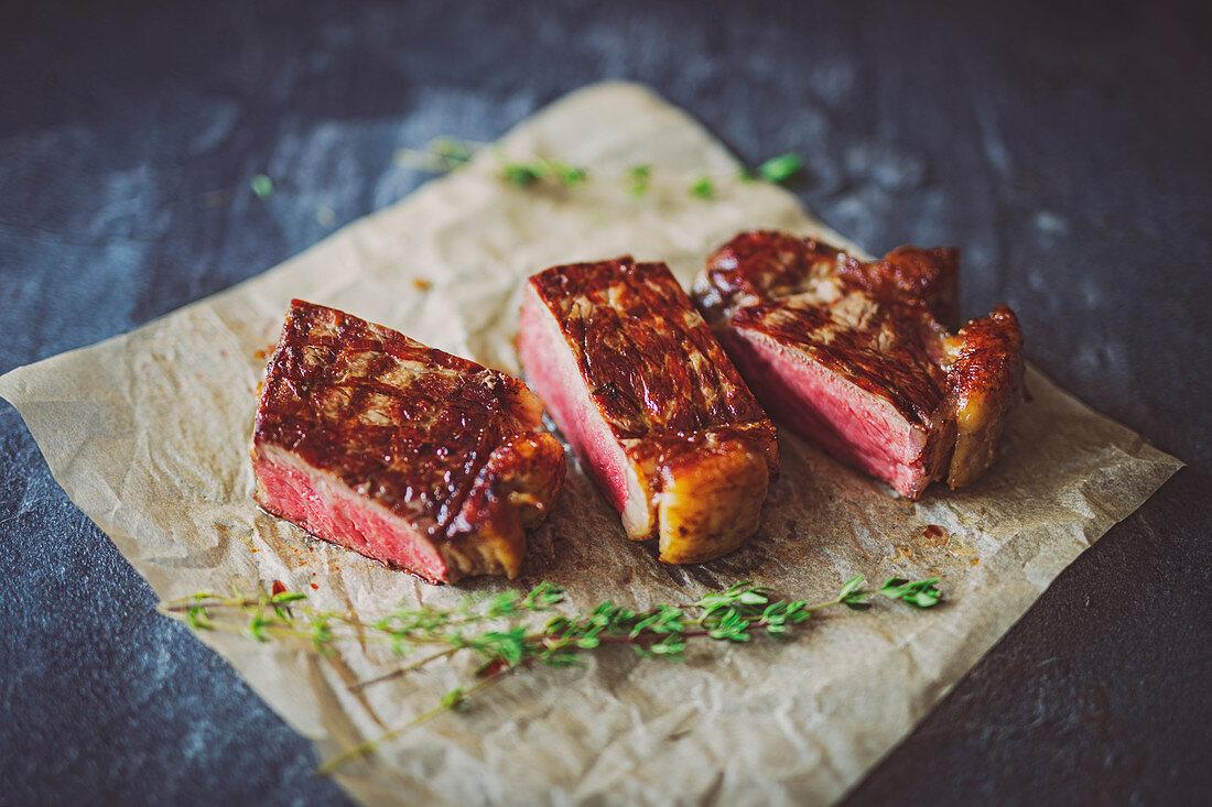 Black Angus rump steak