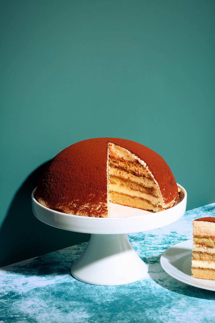 Tiramisu dome cake (trend from the 1990s)
